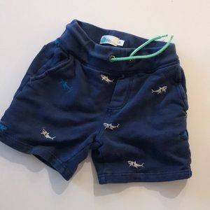 Mini boden sz 8 shorts with sharks!